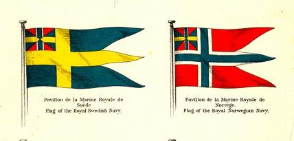 Флаги Швеции и Норвегии 1899 года