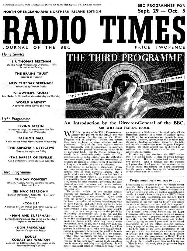 Radio Times for 29 September 1946